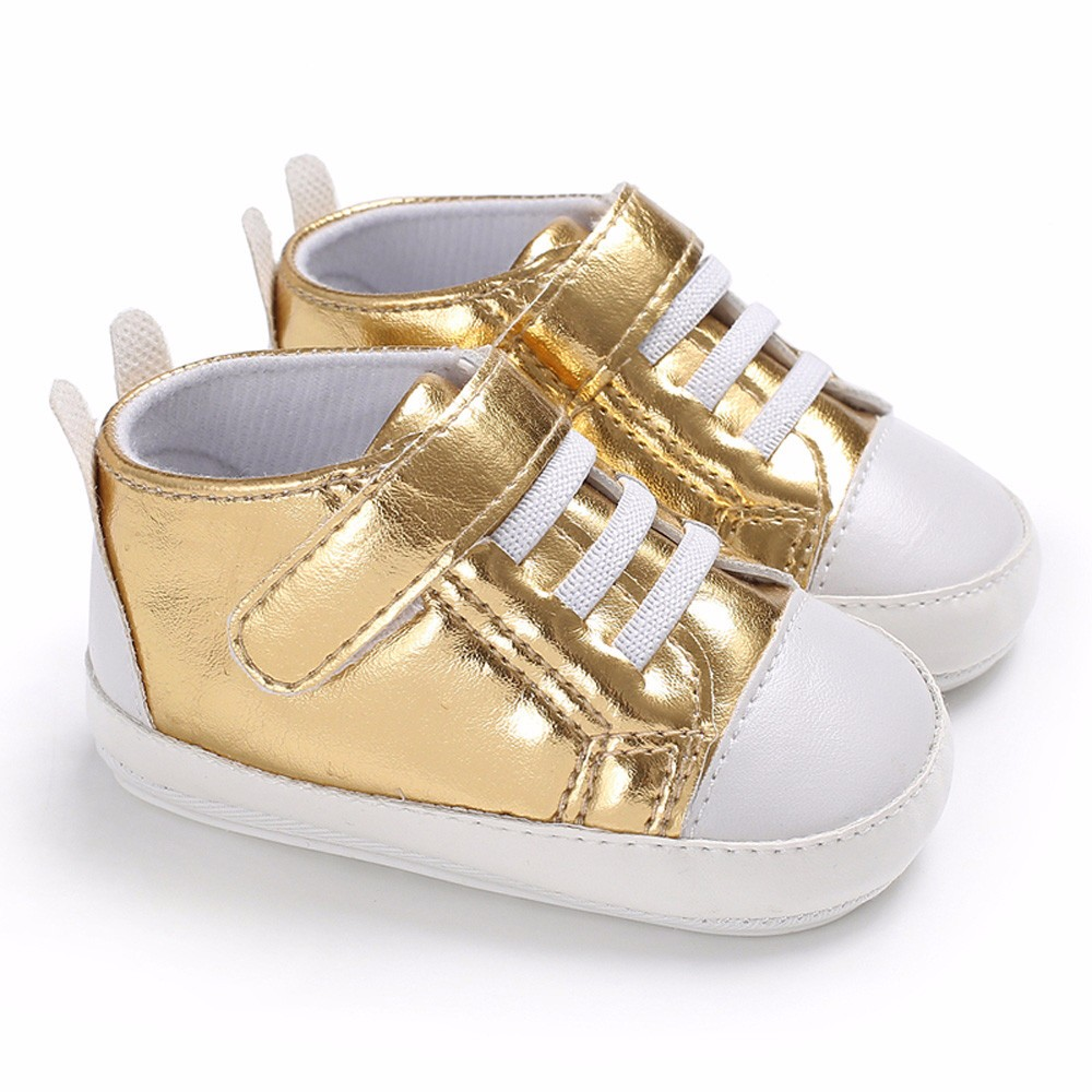 2018 Newborn Infant Baby Girls Boys Crib Shoes Soft Sole Anti-slip Sneakers shoe sole fo ...