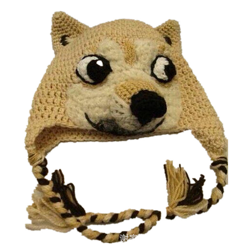 Cool Fashion Hat Dog Beanie Cosmetic For Winter Shiba Inu Cute Doggies Puppy Crochet 100 Handmade Cartoon Animal In Hats Caps From Mother