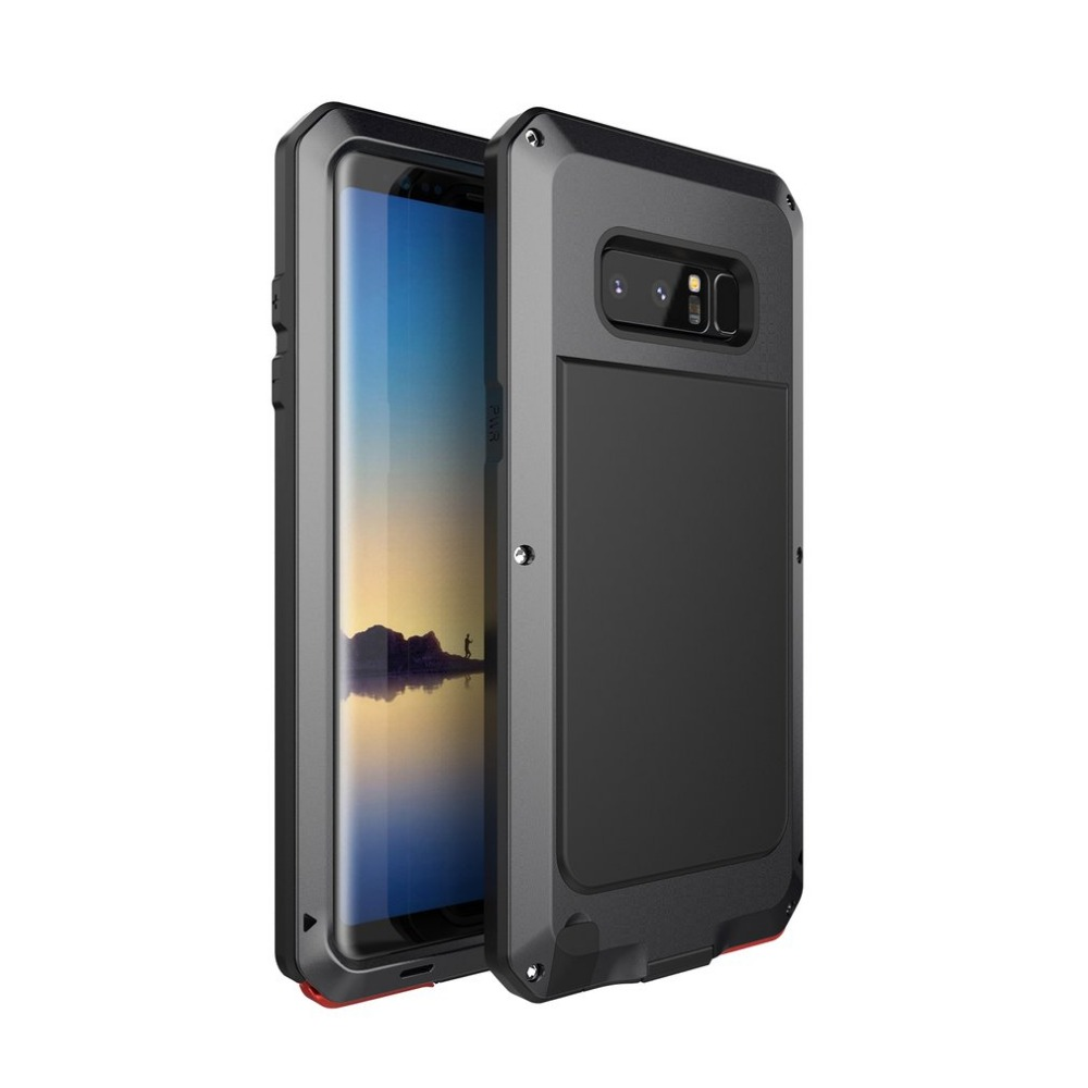 Heavy Duty Metal Cover Case Waterproof Dustproof Bumper Outdoor Full Protective Anti-skid Case for Samsung note8 S6 S7 S8 plus