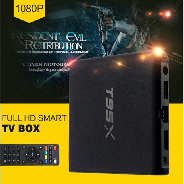 Sunvell S905X T95X Android 6.0 TV Box Amlogic Quad Core 4 K * 2 K 2.4G WiFi CODI 16.1 Unidades Top Box 2G RAM 8G ROM Smart Media jugador