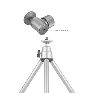 Image 4 - Andoer Mini rótula de bola de trípode de aleación de aluminio, montaje de trípode con orificio de 1/4 pulgadas, rotación de 360 grados, Panorama para cámaras de teléfonos inteligentes