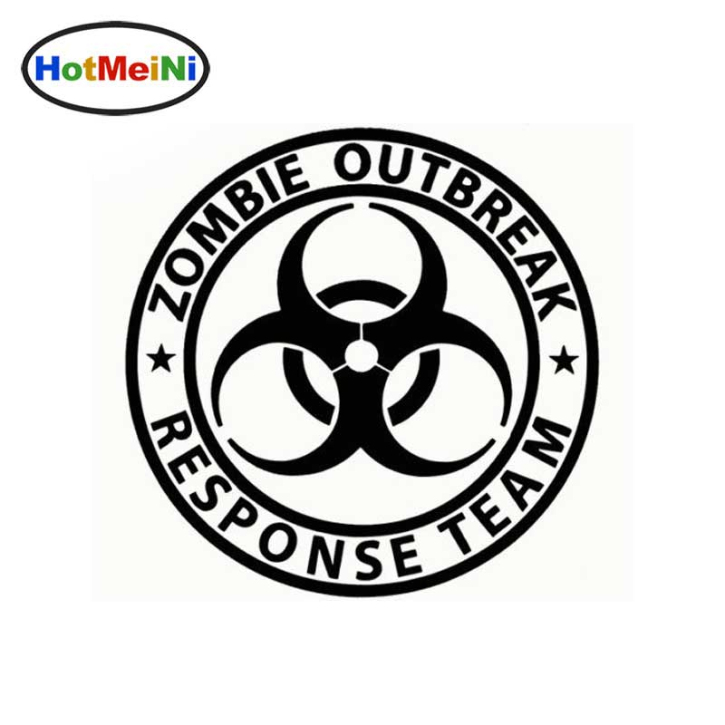 HotMeiNi 15*15cm funny Zombie Outbreak Response Team car window decal Car Sticker Truck Bumper Boat Laptop Vinyl Decal reflective material heart paw vinyl decal car truck sticker laptop boat truck auto bumper wall graphic sticker decoration