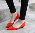 2015 Plus size 33-43 10 women Shoes Women's  flats Red Ballerina Flats Leather Ballet Flats Womens Nude Purple Jelly Color Flats