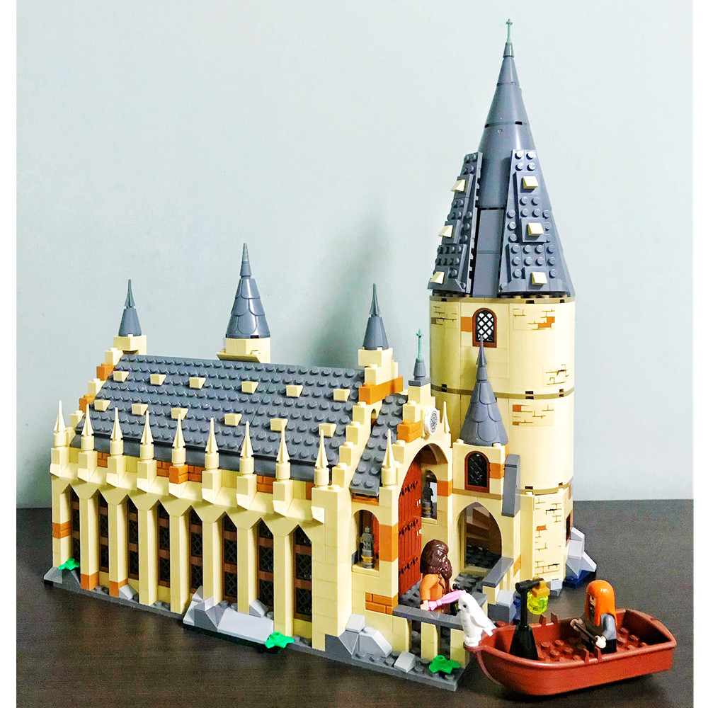 Hogwarts Harry Gran Salón de bloques de construcción de ladrillos de película clásica Potter modelo juguetes de los niños regalo Marvel Compatible Legoe