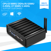 Mini Linux Embedded PC Core I7 5500U Dual Core 2 4Ghz I3 5005U Computer Windows10 Desktop