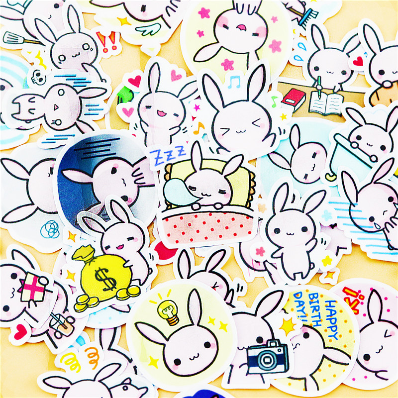 40pcs Creative Cute Self-made Bunny Stickers Scrapbooking Stickers /decorative Sticker /DIY Craft Photo Albums