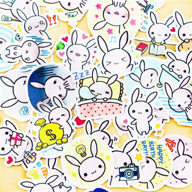 40pcs Creative cute self-made Bunny stickers scrapbooking stickers /decorative sticker /DIY craft photo albums40pcs Creative cute self-made Bunny stickers scrapbooking stickers /decorative sticker /DIY craft photo albums