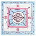 60 cm sarga de seda H cadena clásico Sra. nueva plazoleta bufandas bufandas