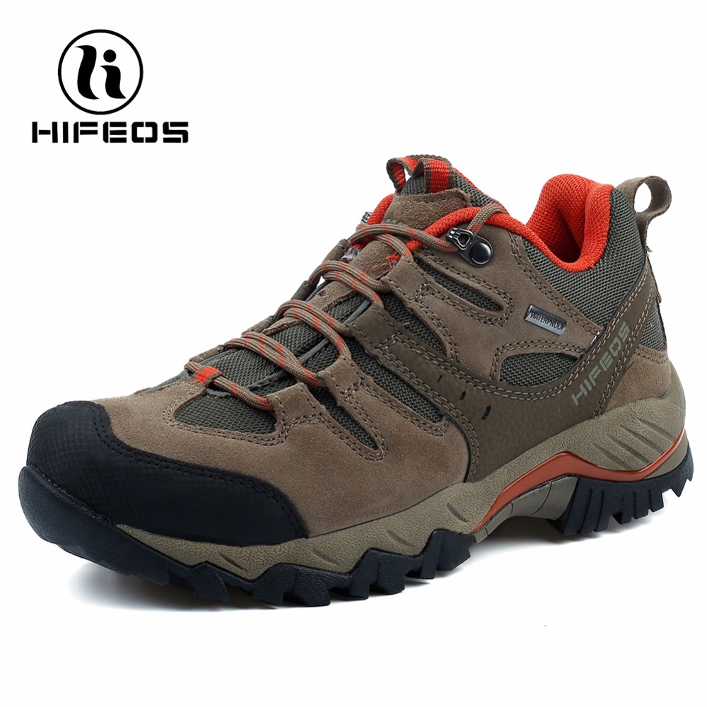HIFEOS men sneakers tactical hiking shoes sports cow anti-Fur walking breathable mountain camping boots outdoor climbing M04A winter men s outdoor warm cotton hiking sports boots shoes men high top camping sneakers shoes chaussures hombre