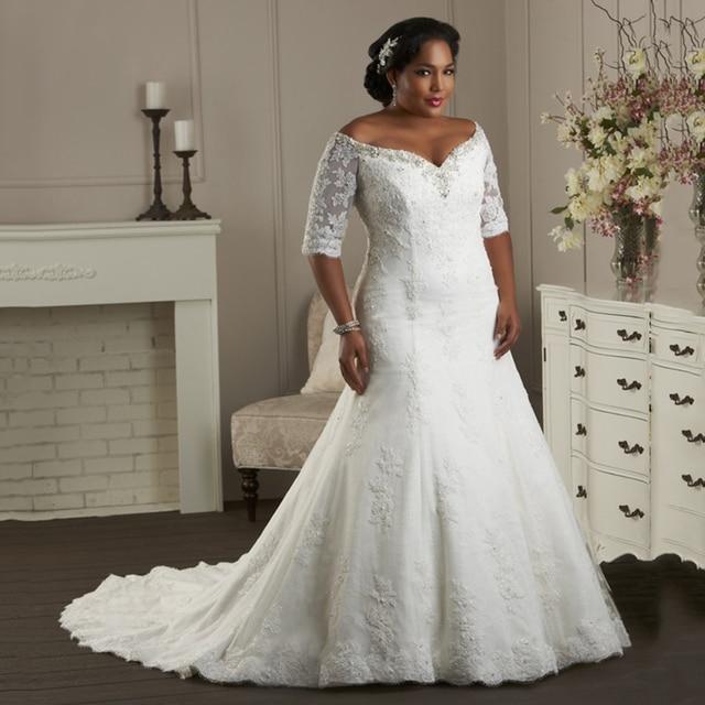 Vestido de Noiva Princesa Country Western Wedding Gowns Lace Up Plus ...