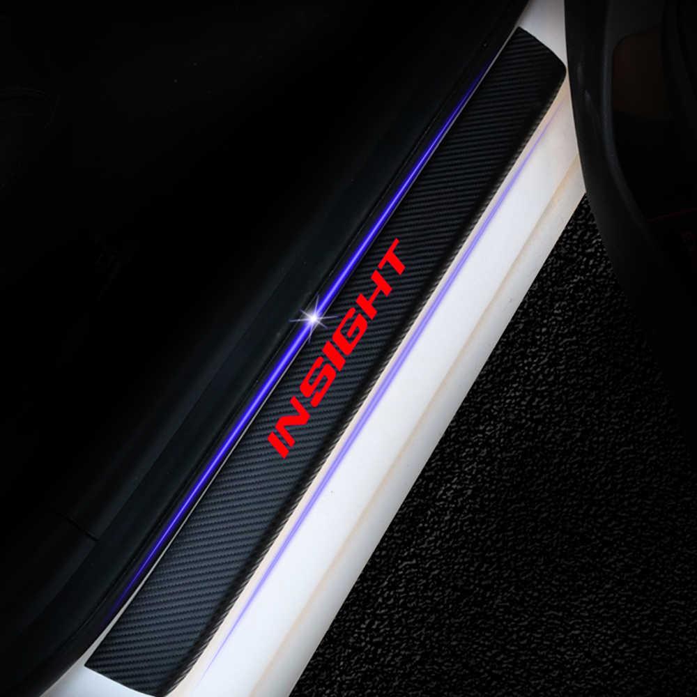 Для Honda Insight 4 шт. виниловая наклейка из углеродного волокна на порог автомобиля