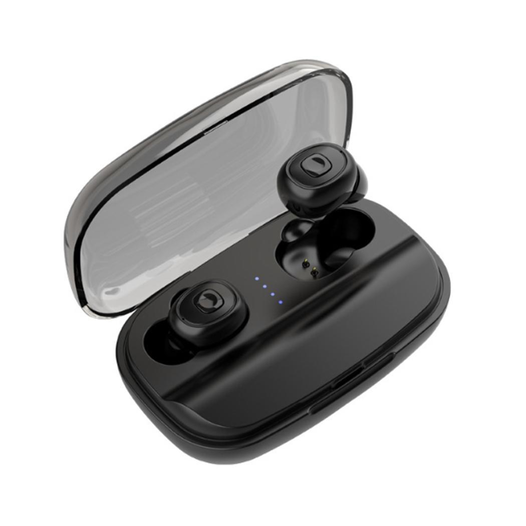 Wireless Bluetooth Earphones Mini Sport Headset In-Ear Handsfree Phone Earbuds Earphone with Microphone and Charging Case(China)