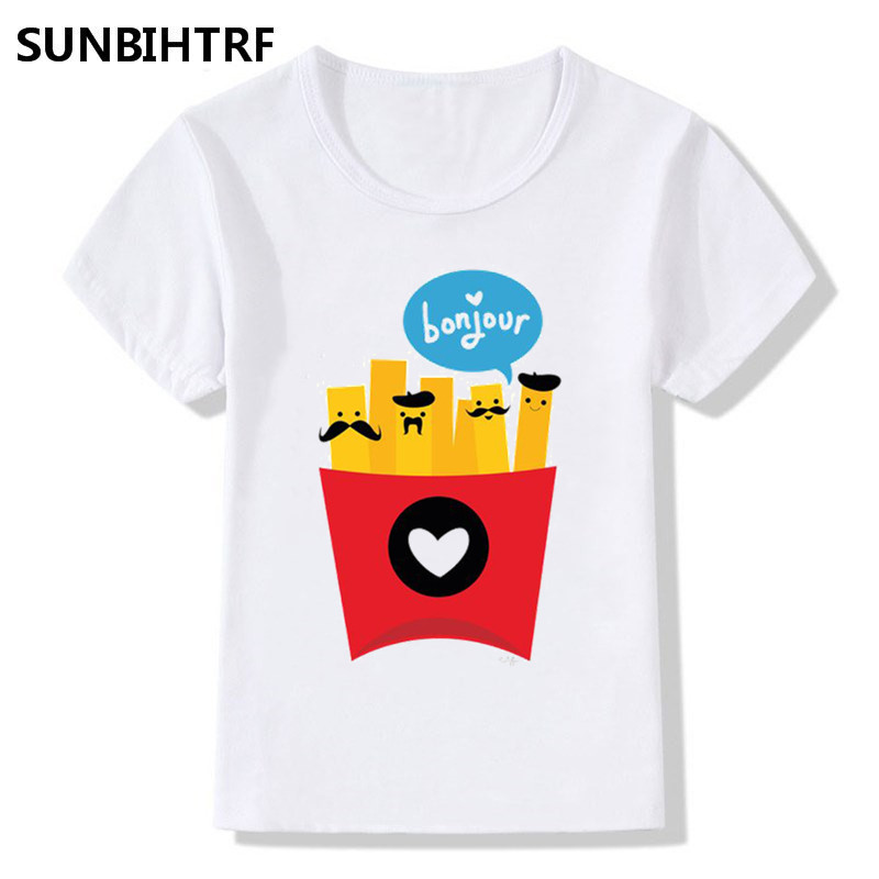 I Love French Fries Short Sleeve T Shirt Baby Boys Kids