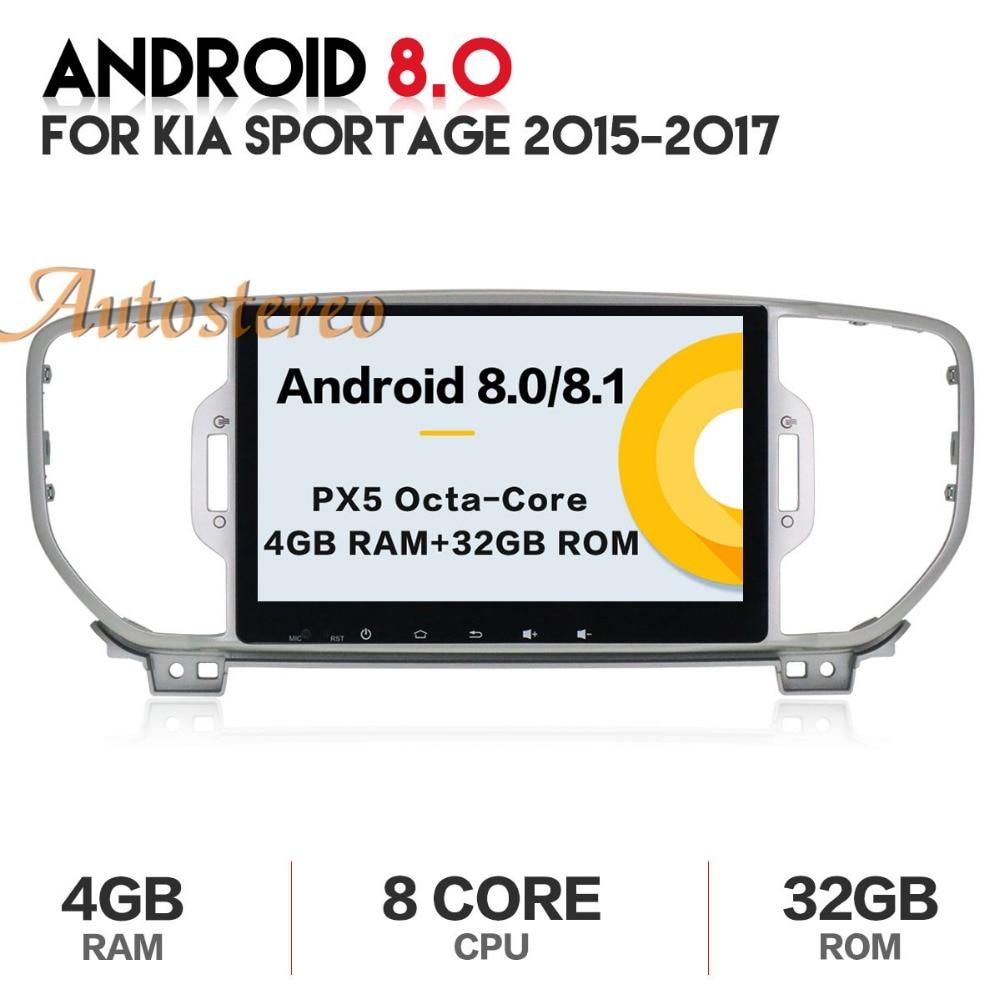 Autostereo android Octa Core lecteur dvd de voiture pour KIA sportage 2016 2017 KX5 gps navigation 1 din radio de voiture stéréo tête unité pad