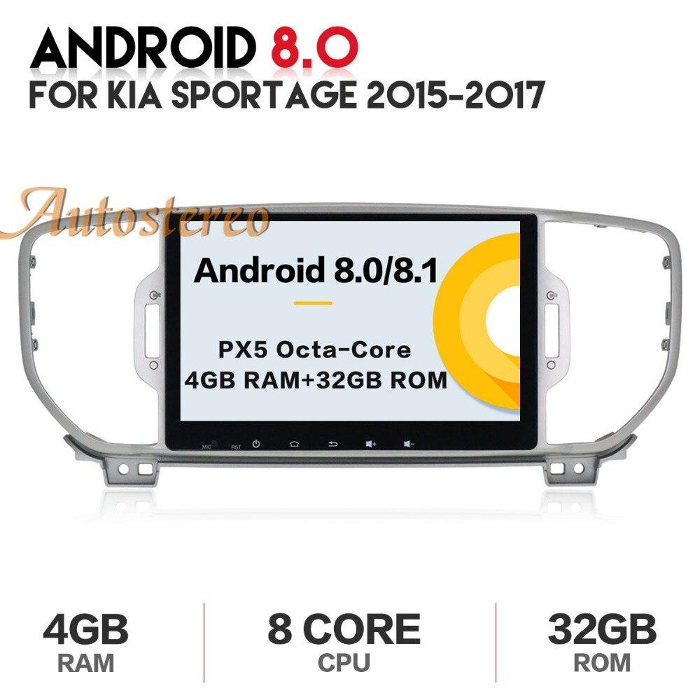 Autostereo android Octa Core lettore dvd dell'automobile per KIA sportage 2016 2017 KX5 di navigazione gps 1 din radio car stereo unità di testa pad