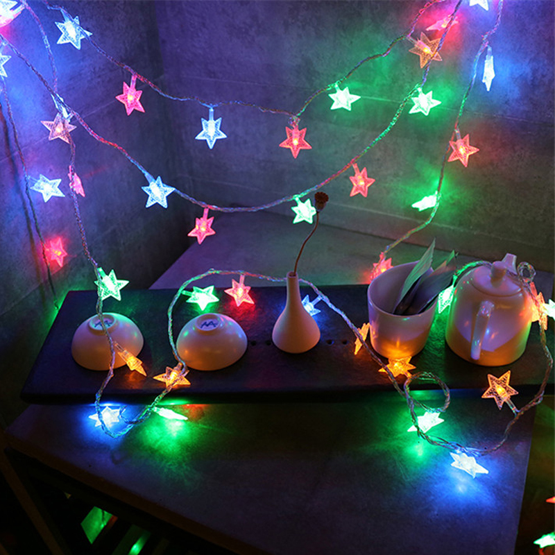 10m 80LED Star String Lights Shaped Theme LED String Fairy Light Christmas  Tree Decor Holiday Wedding Decoration Party Lighting In LED String From  Lights ...