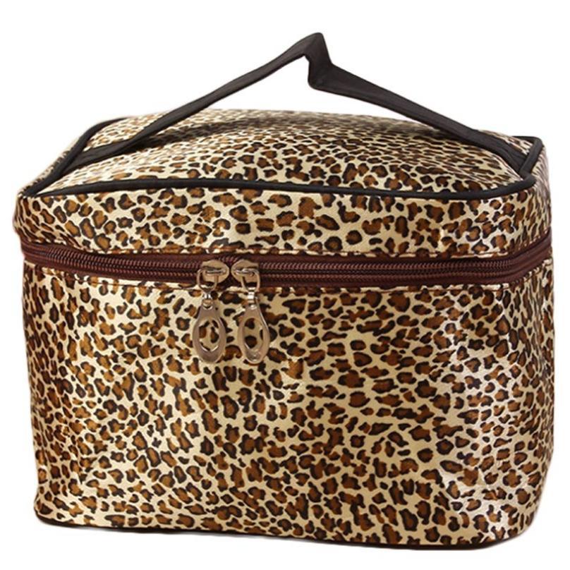 Xiniu Portable Toiletry Cosmetic Bag Waterproof Makeup Make Up Leopard Print Cosmetic Bags Women Travel Bag Brand Design A0711