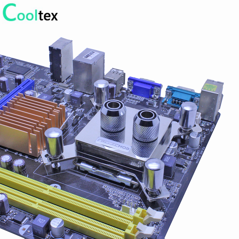 High-end CPU Water cooling Block Waterblock copper cooler watercooled block for computer intel LGA 775/115x/1366/2011 X99 X79 free shipping 53 53 14mm pure copper water cooling block for intel cpu buckle computer copper cpu water block