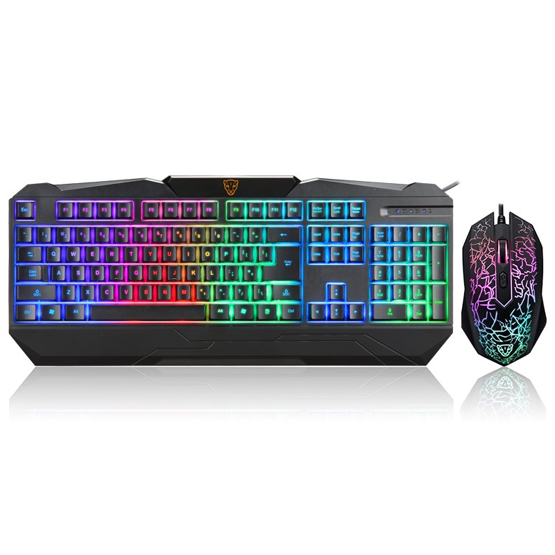 Keyboard Motospeed S69 Gaming Keyboard And Mouse Set With Rainbow Backlight 104 Keys QWERTY Keyboard 1600DPI Optical Mouse Combo buy monitor keyboard and mouse