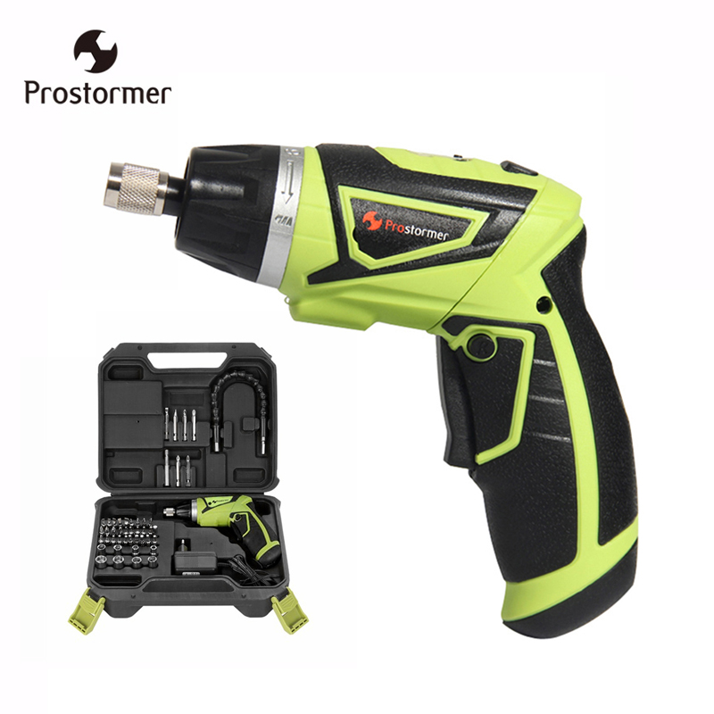 Prostormer EU plug Screwdriver rechargeable with lithium battery 3.6V/7.2V Household Electric Screwdriver with Twistable Handle