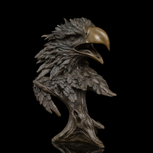 Chinese bronze sculpture falcon figurine EAGLE Statue for home decor wildlife fengshui business gift