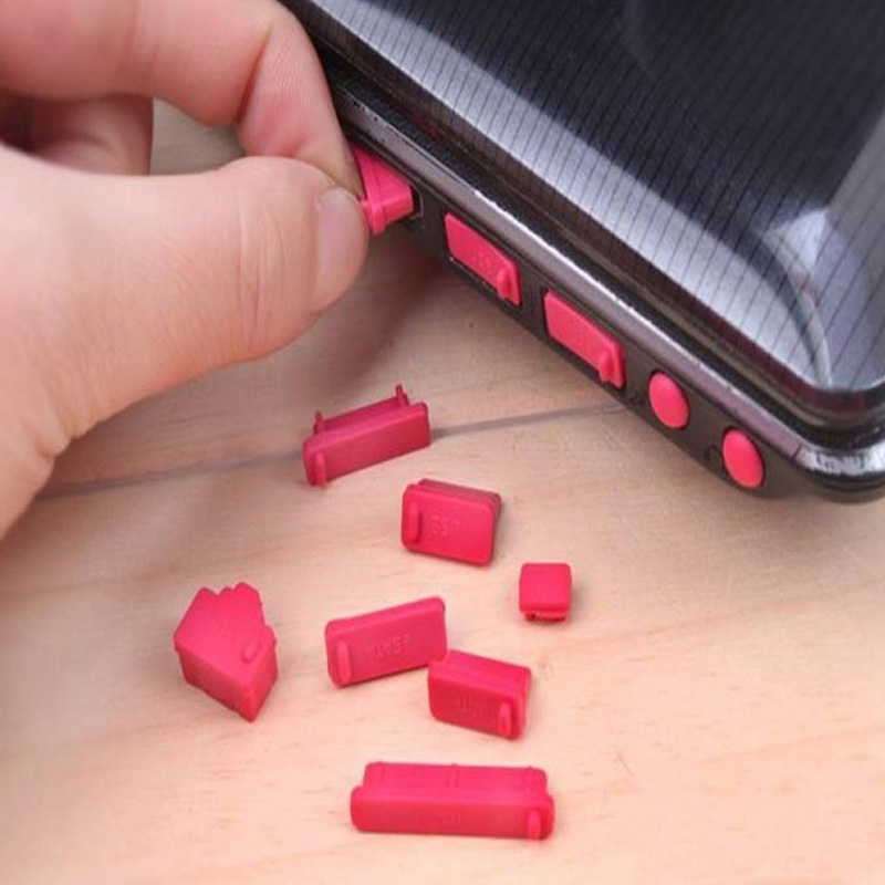 New Design 13 pcs/set Soft Silicone Laptop Earphone Ports Anti-dust Plugs Proof Cap Cover Stopper Computer Protect Accessories