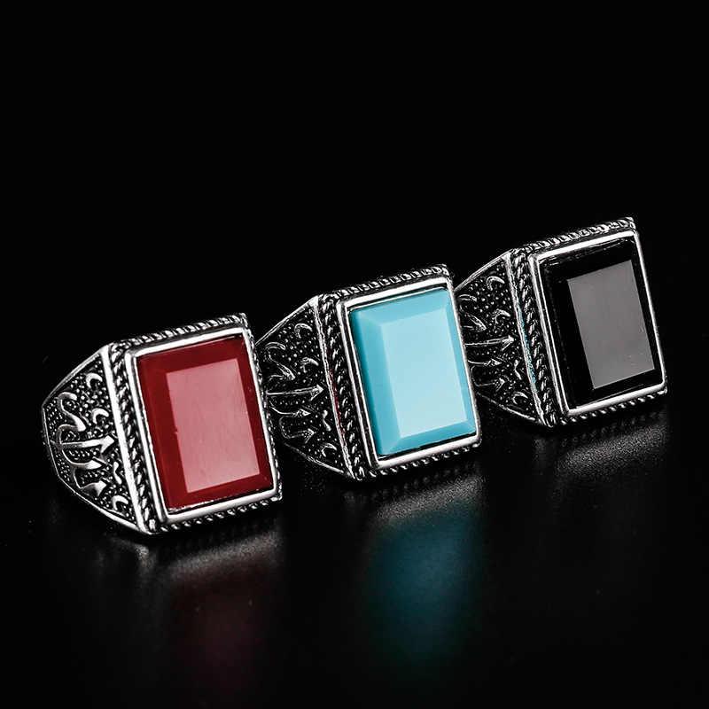 ใหม่ธรรมชาติสีเขียวโบราณแหวนหิน VINTAGE Nobel Palace ผลิตภัณฑ์แหวนสำหรับผู้ชายผู้หญิงเครื่องประดับยุโรป 31053