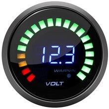 Автомобильный цифровой вольтметр, 2 дюйма, 52 мм, 12 В, вольтметр, 20 светодиодный, черный вольт, вольтметр, voltimetro para, авто, мотоцикл, напряжение