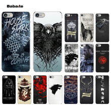 Babaite Game Thrones Wolf Custom Soft Silicone TPU Phone Cover for iPhone 7 7plus 5 5Sx 6  8 8Plus X XS MAX XR