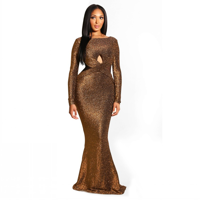 African Dresses For Women Floor Length Ropa Bazin Dashiki Long Sleeve Maxi Dress Party Club Formal Vestidos Africa ClothingAfrica Clothing   -
