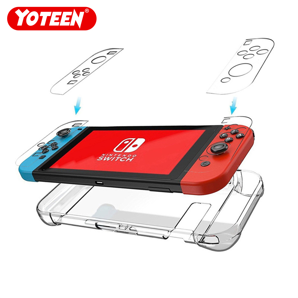 Clear Back Bag Protective Cover Case for Nintendo Switch NS NX Cases Cover for Nintend Switch Ultra Thin PC Transparent Bag