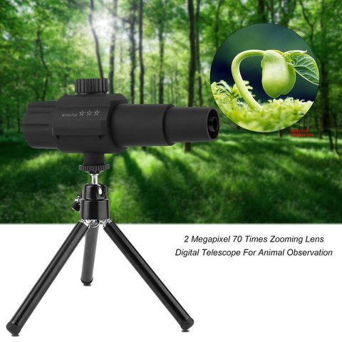 2 megapixel 70 vezes zoom lente inteligente telescopio digital 2 polegada telescopio para observacao animal