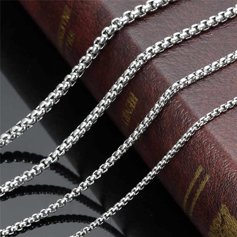 Gorąca sprzedaż 316L ze stali nierdzewnej 6 MM kwadratowy naszyjnik z pereł długość 50/55/60/70 cm moda Punk biżuteria męska drop shipping