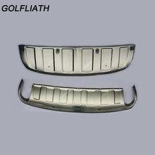 Golfliath спереди и сзади нержавеющая сталь бампера доска опорная плита Нерф Бар Подходит для Audi Q7 2011 2012 2013 2014
