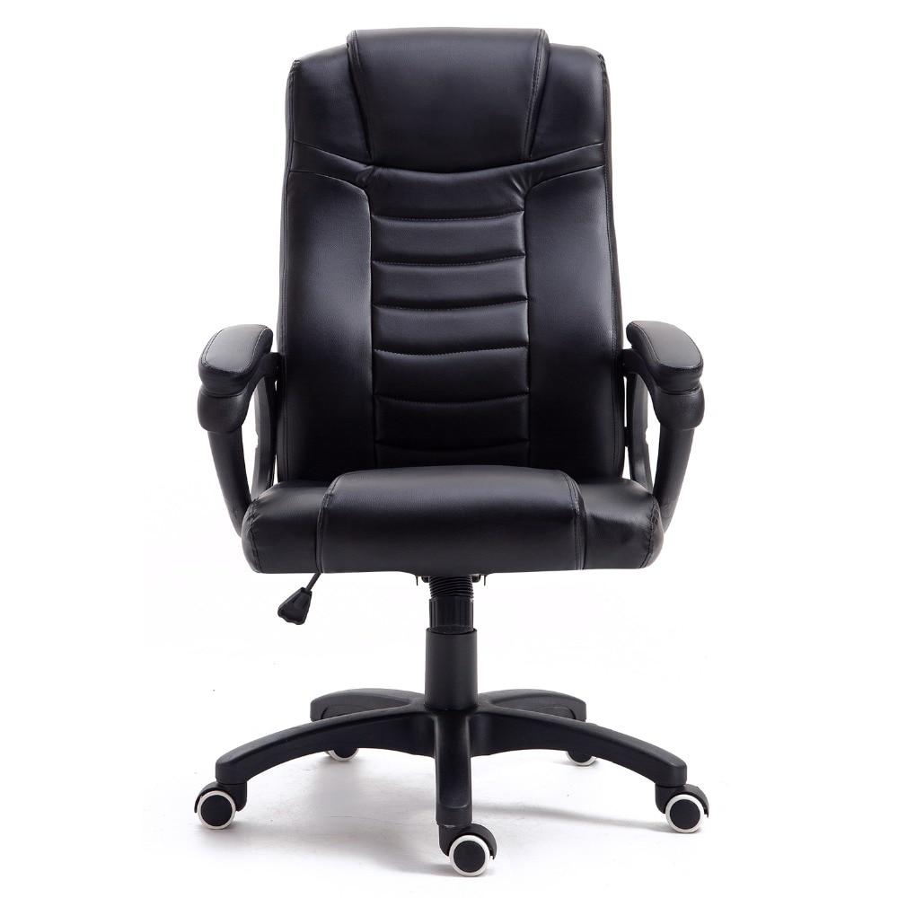 Samincom Ergonomic High-back Large Size Gaming Chair W51 x D52 x H110-120CM Swivel PU Leather Black Office Desk ChairSamincom Ergonomic High-back Large Size Gaming Chair W51 x D52 x H110-120CM Swivel PU Leather Black Office Desk Chair