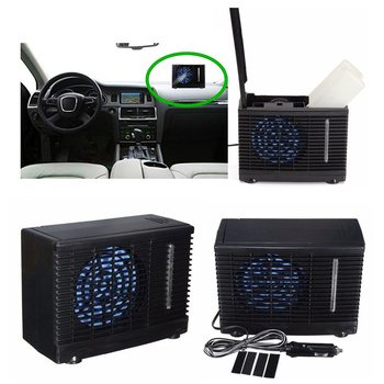 12V Car air Conditioner 35W Black Portable Mini Cooling Conditioner Water Evaporative air Fan