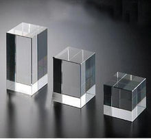Factory customized acrylic block for display jewelry necklace rings stand holder rack plexiglass crafts
