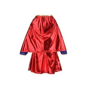 Image 3 - 키즈 어린이 소녀 의상 멋진 드레스 슈퍼 히어로 supergirl 만화책 파티 복장