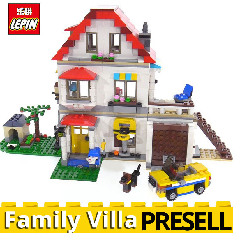 New Lepin 24046 Creative Series The Family Villa Model Set Building Blocks Bricks 815Pcs Educational Toys for Kid Gifts 31069