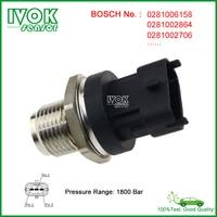 Bosch 1800 Bar Diesel Fuel Pressure Sensor For Chevy Chevrolet Aveo Malibu Captiva Epica Lacetti