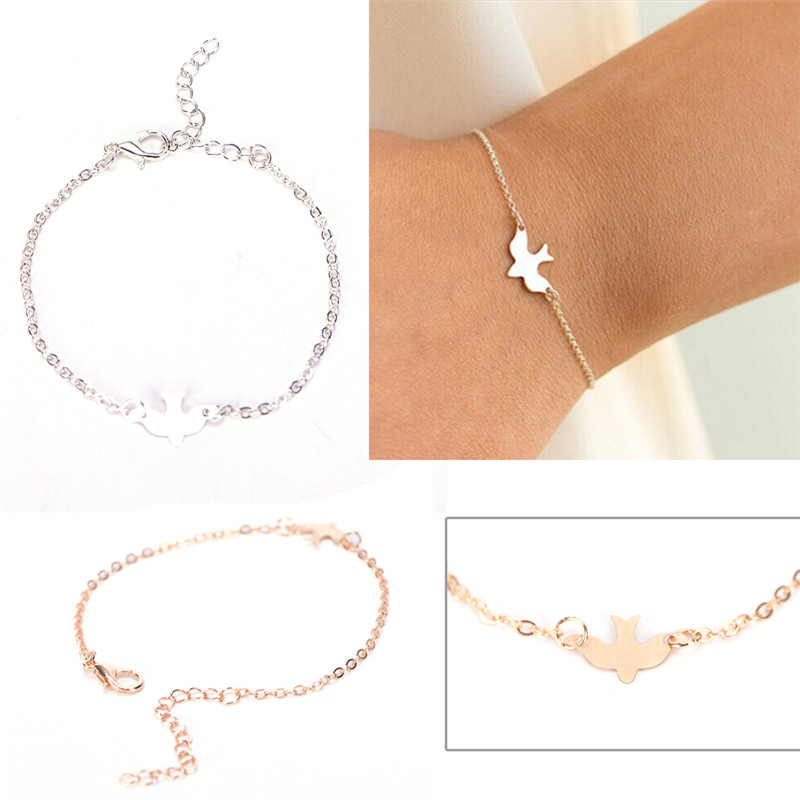 Tiny Peace Dove font b Bracelet b font Soar Flying Birds font b Bracelet b font