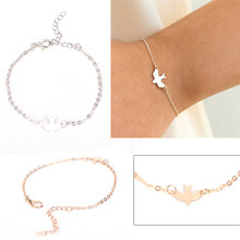 Tiny Peace Dove Bracelet Soar Flying Birds Bracelet Little Cute Swallow Bird Bracelets