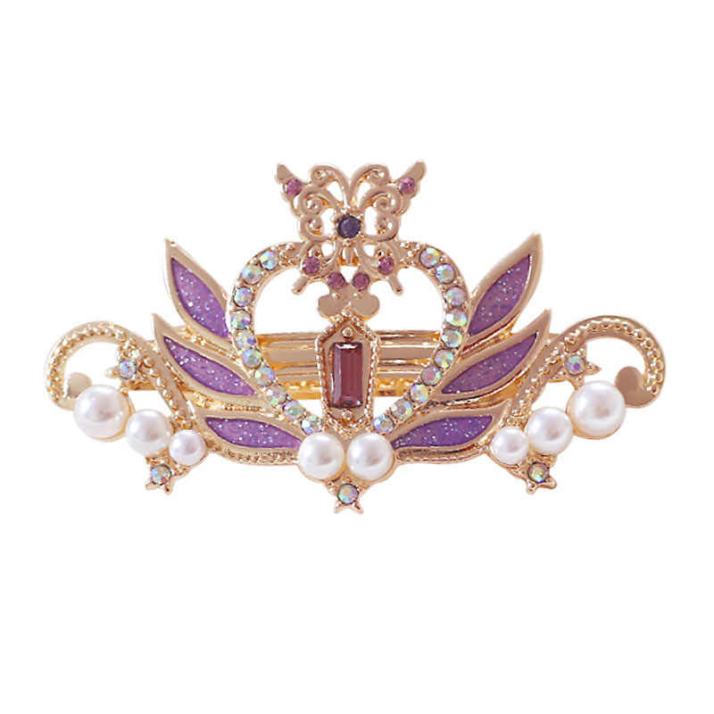free shipping 6 pcs/ lot fashion jewelry accessories metal enamel sailor moon heart wing crown pearl hair clip
