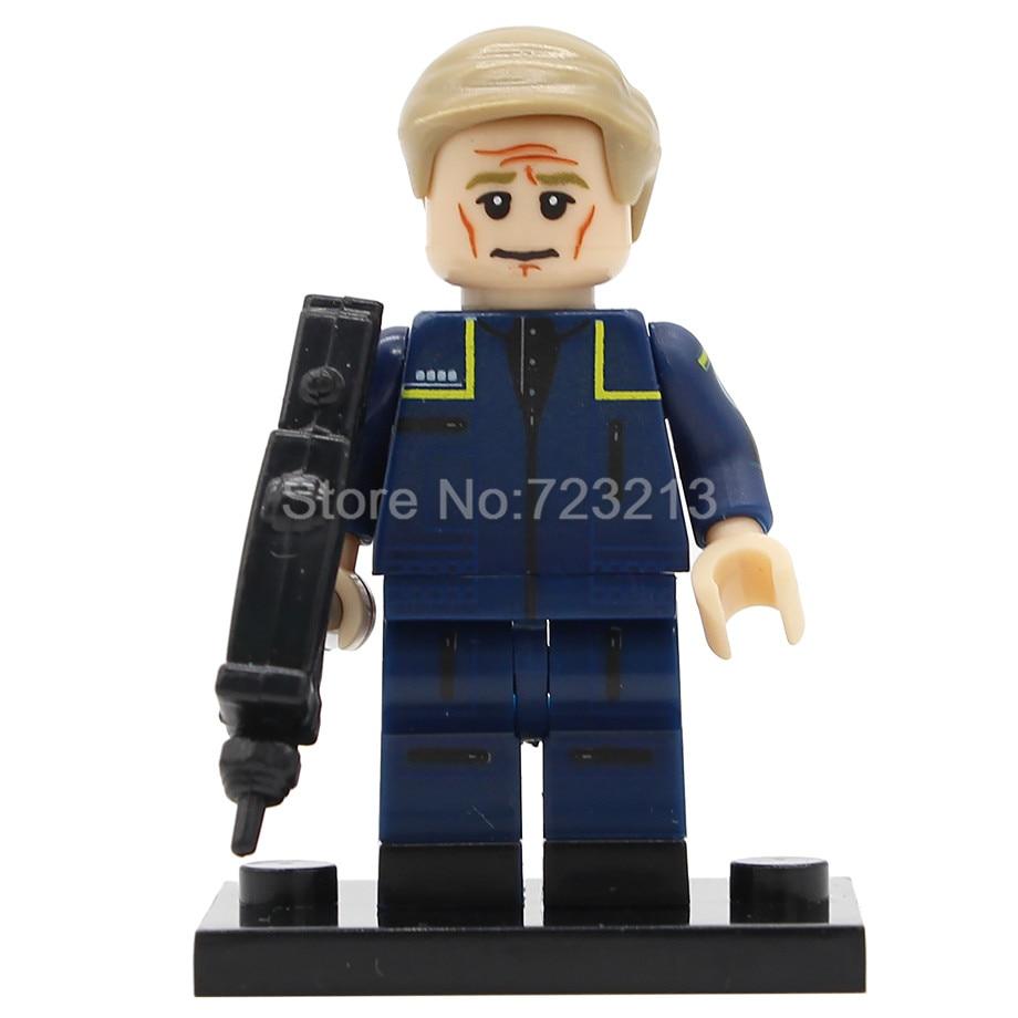 Star Trek 8pcs/lot Spock TPol Legoingly Figure Set Trip Travis Startrek Enterprise Malcolm Reed Jonathan Building Blocks Toys