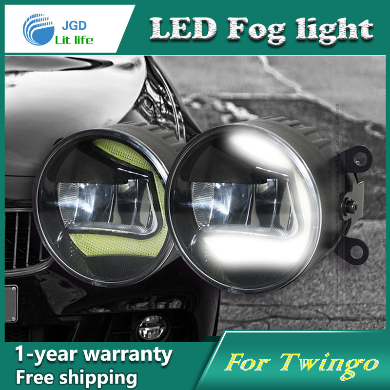 Super White LED Daytime Running Lights case For Renault Twingo 2015 Drl Light Bar Parking Car Fog Lights 12V DC Head Lamp цены