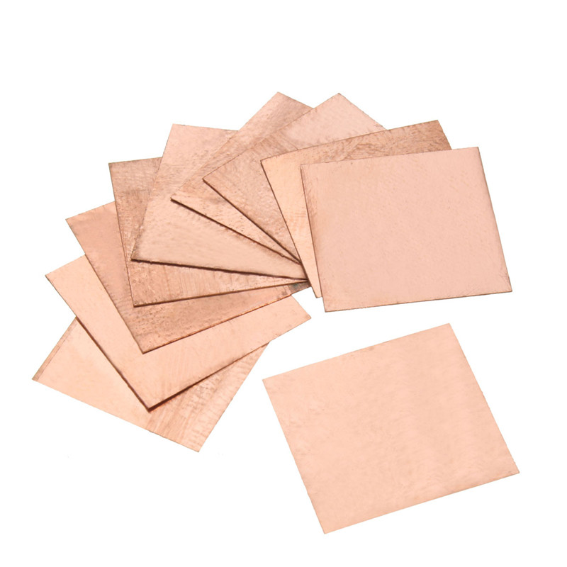10Pcs 0.1mm/0.3mm/0.5mm/0.8mm/ Laptop Copper Sheet Plate Strip Shim Thermal Pad Heatsink Sheet For GPU CPU VGA Chip RAM Cooling 10pcs lot 15x15x0 3mm diy copper shim heatsink thermal pad cooling for laptop bga cpu vga chip ram ic cooler heat sink