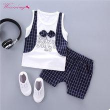 448885220 Conjuntos de ropa formal para bebé Letras a cuadros arco ropa infantil  fiesta de cumpleaños moda paño abrigo 2 unidades Set