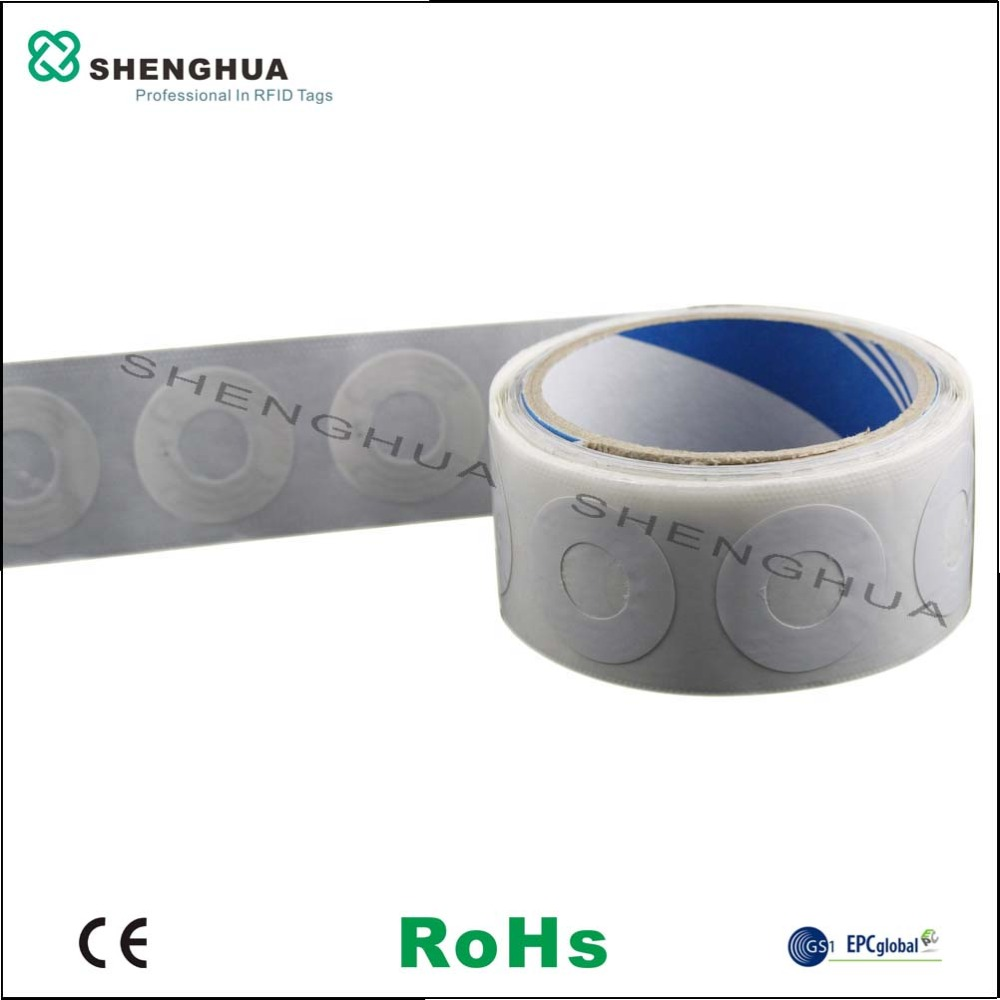 10pcs/pack Programmable Customization Available UHF RFID Disc Tag Sticker For CD DVD Intelligent Document Management