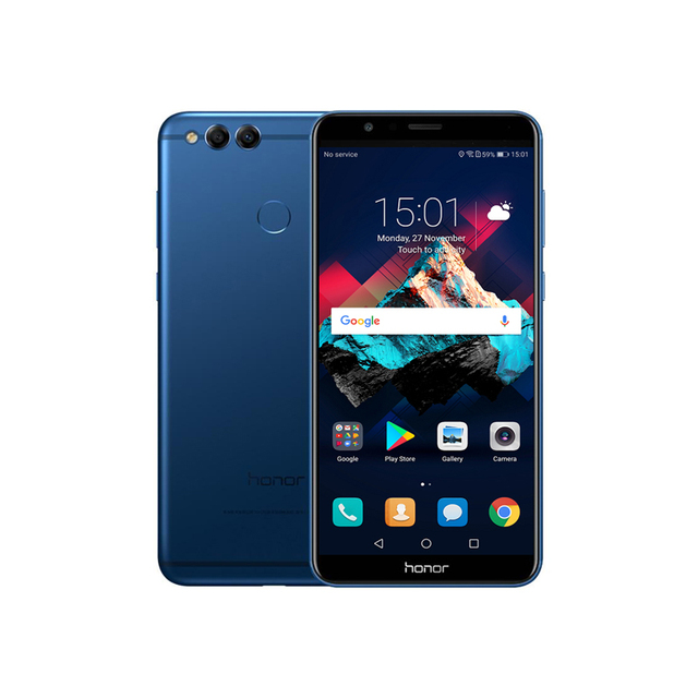 "NEW Huawei Honor Play 7X Kirin 659 Octa Core 4GB RAM 64GB ROM 5.93""inch 18:9 OTA Smartphone  Dual Rear Camera 3340mAh 2160*1080P"
