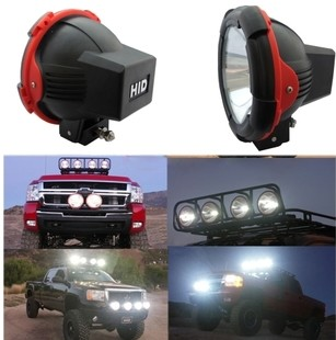 1Pcs 55W/35W Offroad Fog Light Lamp HID XENON 4x4 7inch 4inch Spotlights HID Work Driving Head Lights For Car Off Road SUV image